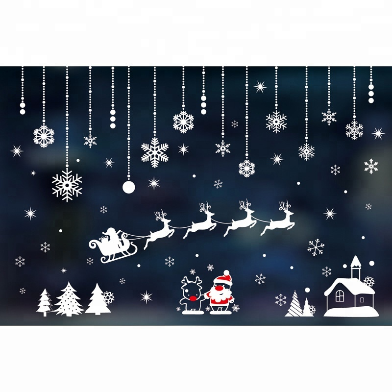Outdoor Merry Christmas 3D Wall Stickers Home <strong>Decor</strong>