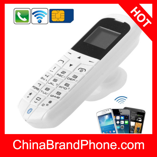 LONG-CZ J8 Mini Phone with Hands Free Bluetooth Dialer + Bluetooth Headphone