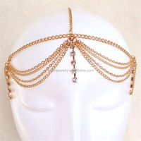 Simple and fashion gypsy hair jewelry, hair chain, hair accessory for woman