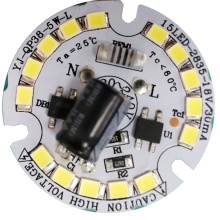 3 years warranty 5W 120 lm/W driverless ac dob <strong>led</strong> bulb <strong>module</strong>