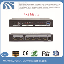 4K*2K HDMI Matrix 1.4V with EDID function 4 input 2 output