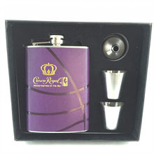 7oz stainless steel hip flask with small cup for drinking wine flask gift set