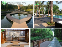 2016 hot sale new brushed UV Plastic Wood composite outdoor/garden WPC furniture
