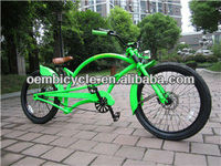 24inch in green color classic frame adult chopper bicycle beach cruiser bike