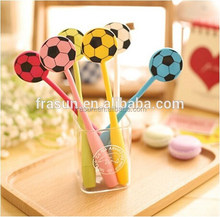 Fancy multi color shaped soft silicone roller ball pen