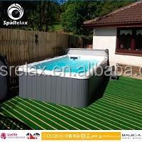 shipping container swimming pool luxury rectangular dropin acrylic balboa hot tub combo spa 58