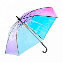 23inch Colorful Transparent Hologram Umbrella