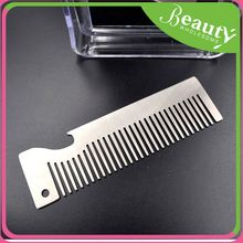 Stainless steel beard comb shear ,h0te6p bottle openner comb for sale