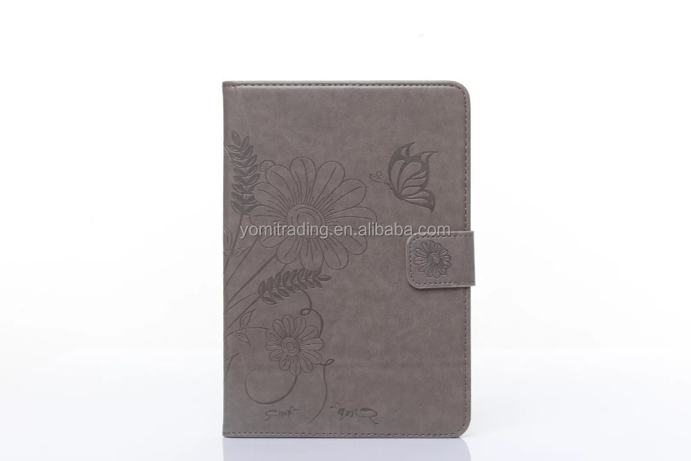 Hot sell wholesale high quality butteryfly pattern wallet Leather Case for ipad mini 4