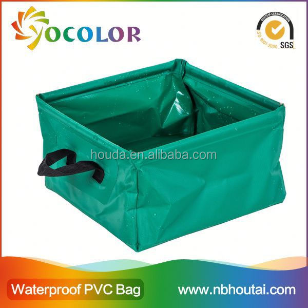 Flexible and foldable pvc tarpaulin Fish Pail Water Bucket