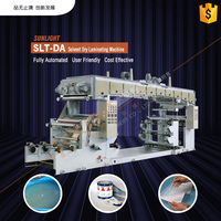 SLT-DA BOPP PET PE Metalized Film Paper Aluminum Foil High Speed Plastic Film Roll Solvent Glue Coating Dry Laminating Machine