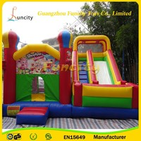 2016 bounce combo /inflatable bouncer house /inflatable jumping castle with slide