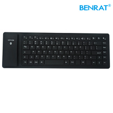 Waterproof foldable mini flexible foldable waterproof wireless ergonomic keyboard