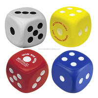 5.3cm colorful dice stress ball toys for kid
