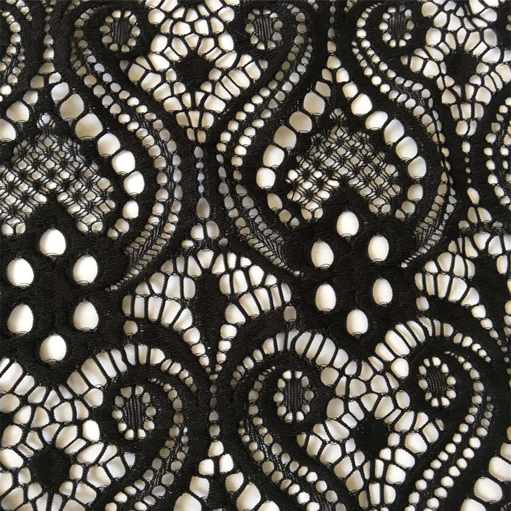 Fancy Nylon Spandex Lace Fabric Tribal Design Ready Goods