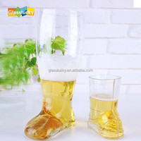 wholesale boot shaped glass beer bottle,glass beer mugs,boot bottle