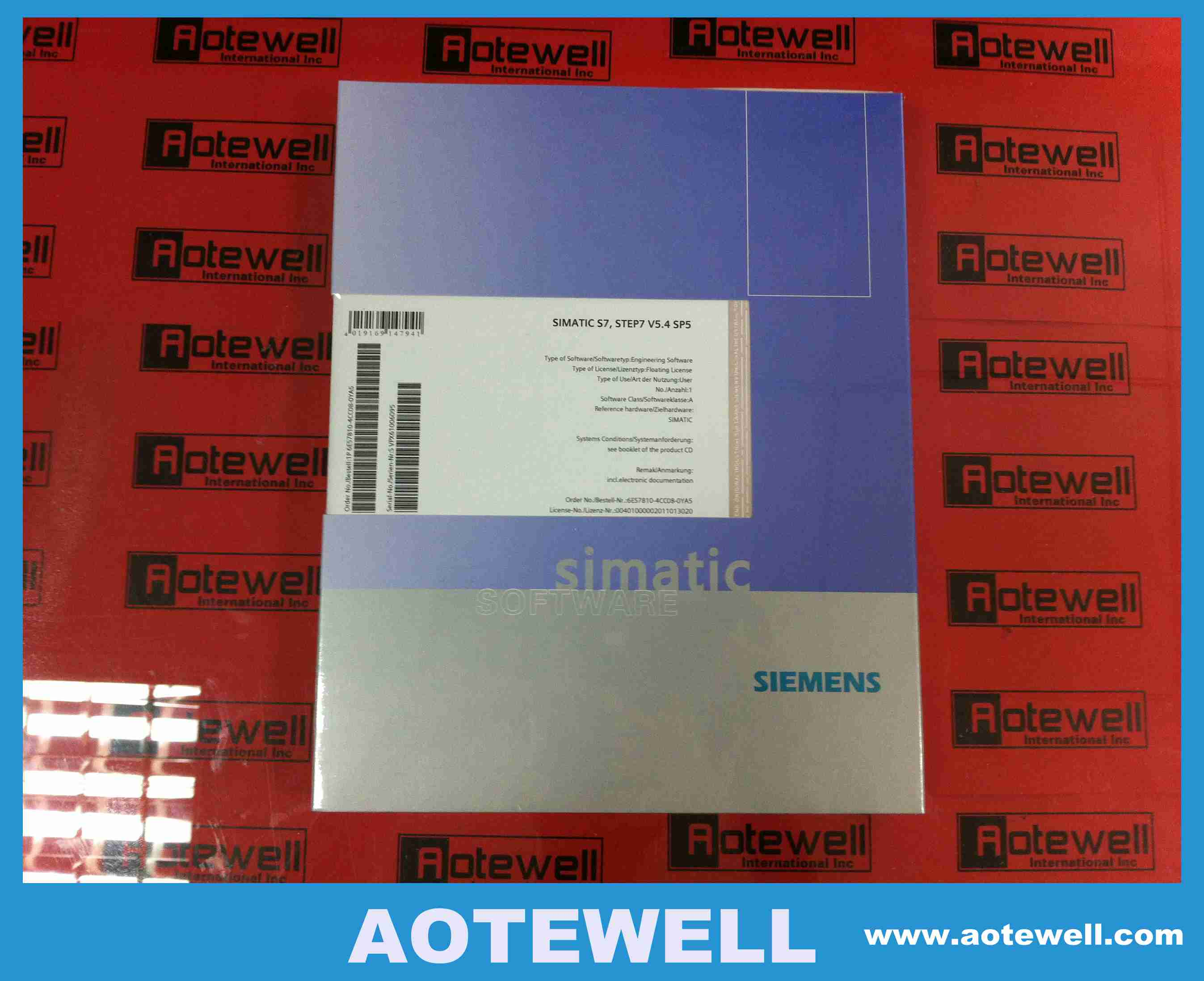 Siemens SIMATIC S7, STEP7 V5.4,6ES7810-4CC08-0YA5 Automotion Software in stock