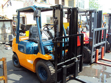 2.5ton used Toyota forklift, electric forklift truck 2.5ton, cheap forklift for sale in shanghai