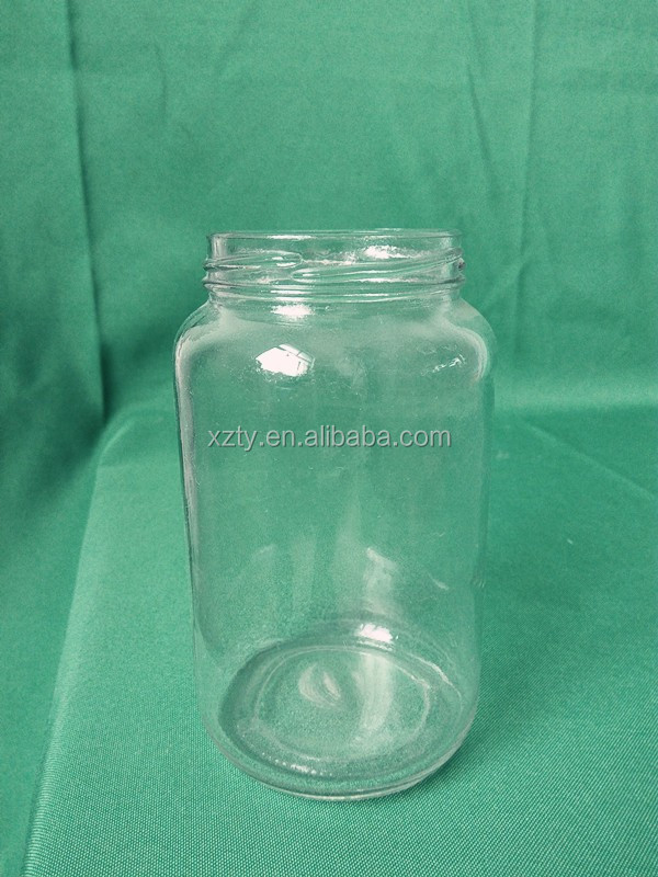 625ml cylinder glass jam or pickles or honey jar with screw lid