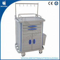 BT-IY010 Cheap price transfusion room emergency rail trolley equipment