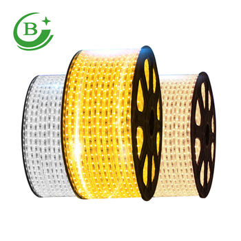 Aluminium profile R/Y/B/G/W/WW 220v 5050 waterproof led Strip Light rgb