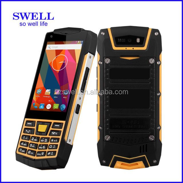 rugged dropship mobile cellulare MTK6582 Quad Core IP68 Walkie Talkie RFID NFC unbreakable waterproof cell phone feature