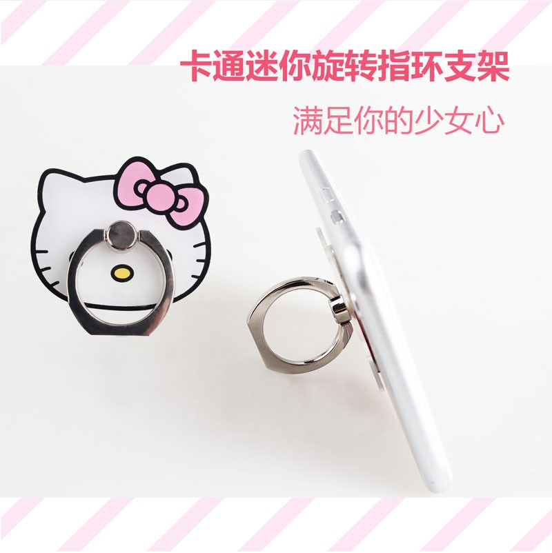 Retailling package Mini Cartoon Ring Kickstand Mobile Phone Holder For Samsung For iPhone