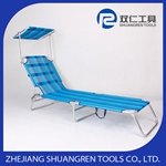 Folding outdoor canopy bed
