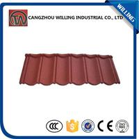 galvanized decrative building material stone coated metal roof tile