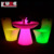 LED light bar tables and chairs plastic outdoor bar furniture