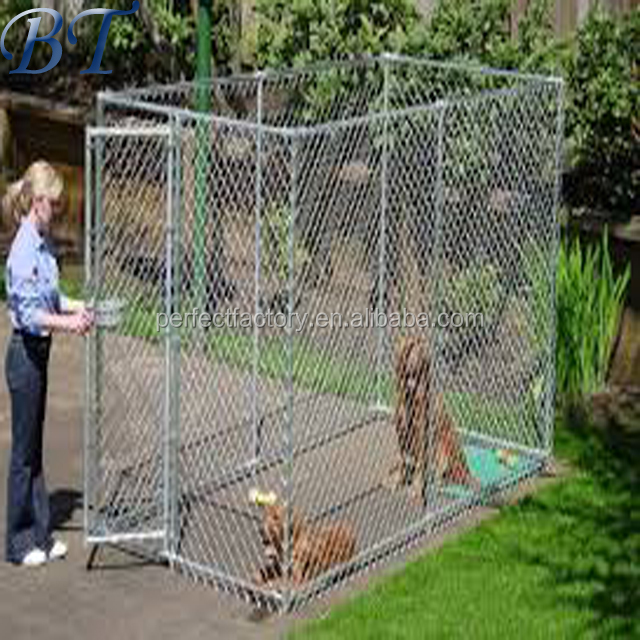 Metal tube chain link outdoor dog kennel/house/cage/panel/run fence hot sale