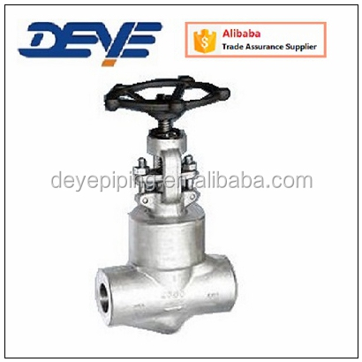 SS FORGED API GLOBE VALVE WITH THREADED ENDS NPT