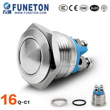 Momentary 16mm push button switch, metal on off switch button