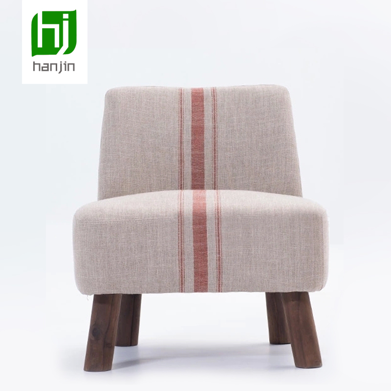 Dickson Japanese style modern low chair / soft wood footstool with low back