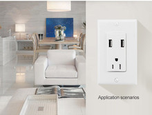 ETL listed wall mounted power outlet socket,white