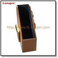 Business Gift Leather Executive Office Table File Holder Box Supplier