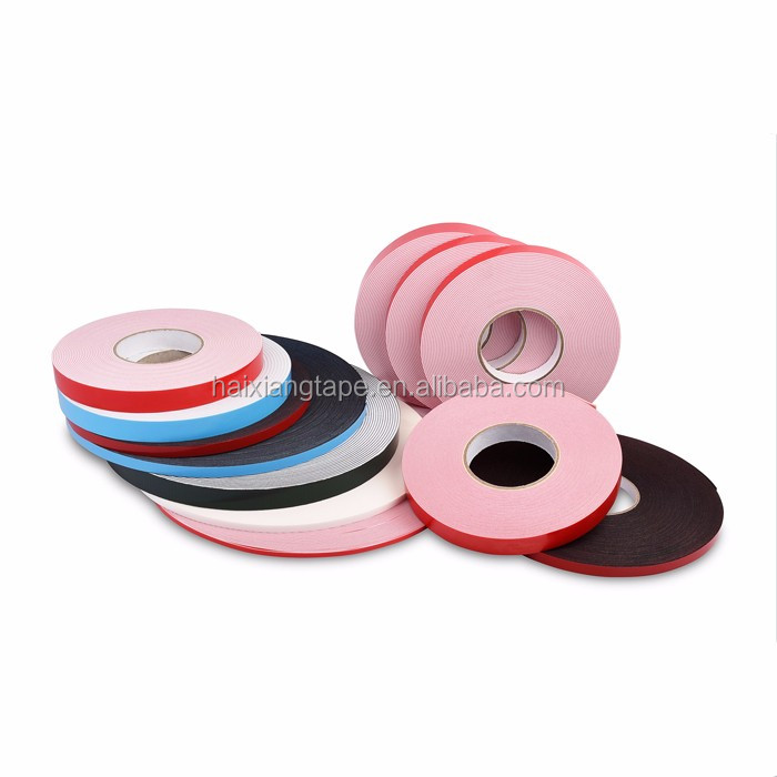 Double sided 1mm PE/ EVA foam tape for auto decoration,contraction