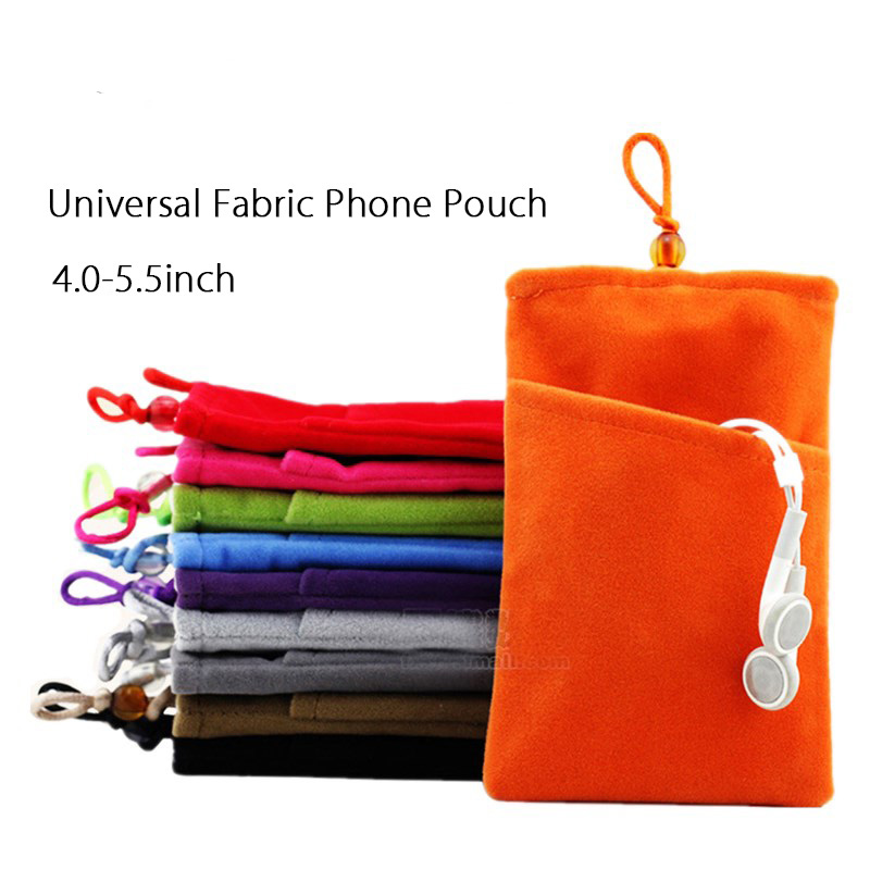 high quality Phone Velvet Soft Pouch Cloth Sleeve Lint Bag Pouch