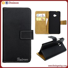 Flip real Leather case for htc one m7 802w case cover