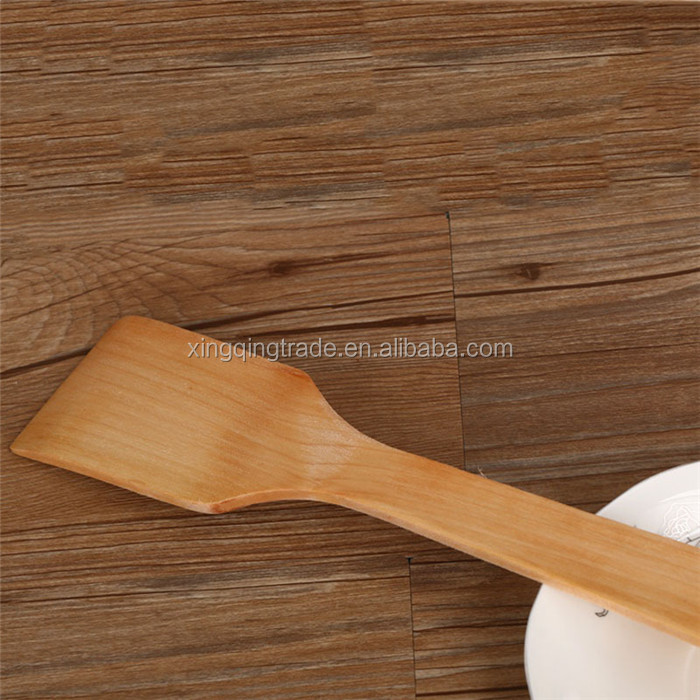 Natural Health Wood Kitchen Slotted Spatula Spoon Mixing Holder Cooking
