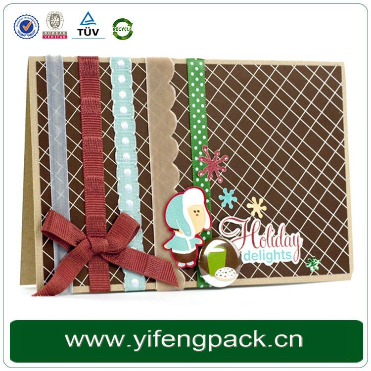 Yifeng packaging factory high quality handmade christmas cards with various designs