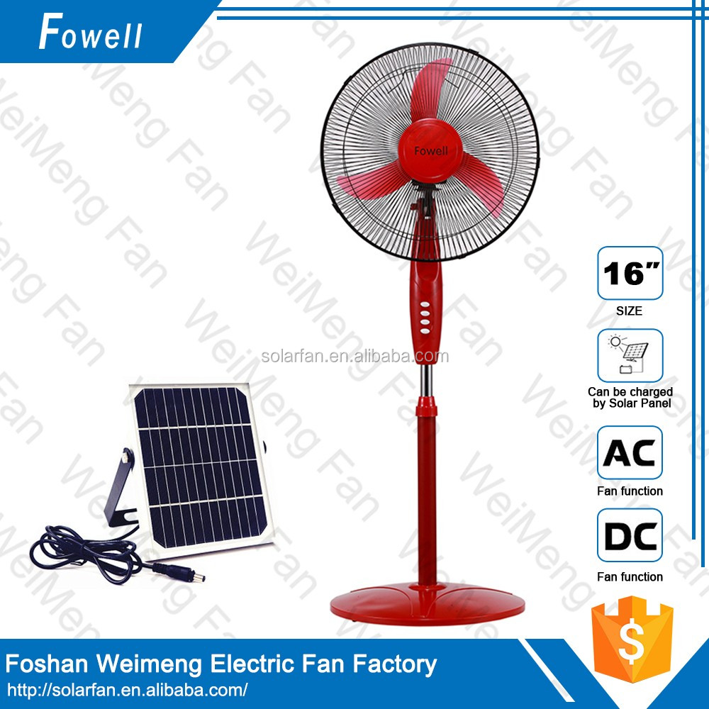 Best price 10w 16inch solar rechargeable stand <strong>fan</strong> dc 12v manufacturer with good quality Model:MD-416
