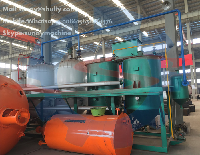 5T-20T/D crude palm/palm kernel/peanut/cotton/soya oil refining machine