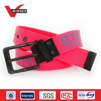 Custom Printed Fabric belt OEM Logo belts