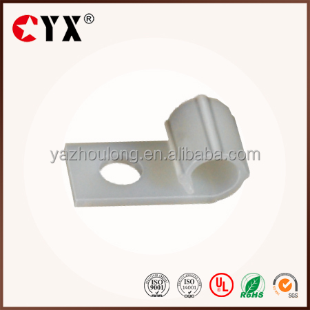 nylon wire mounting clips R type cable holder