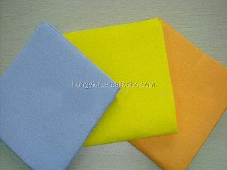 Super absorbent needle punched nonwoven fabric cleaning cloth