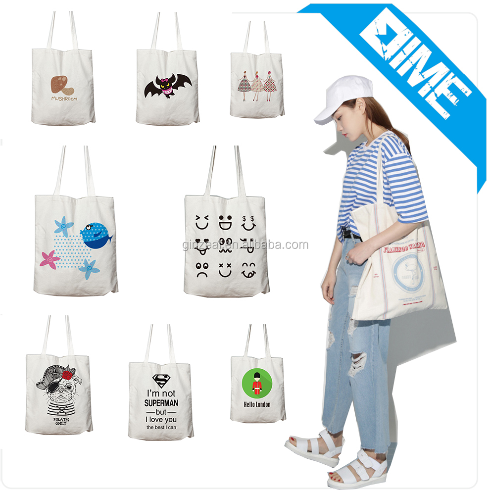 Customized Recyclable Cotton Canvas Tote Bag, Beach Bags Promotion