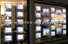 Crystal acrylic window led light frame cable hanging light box display