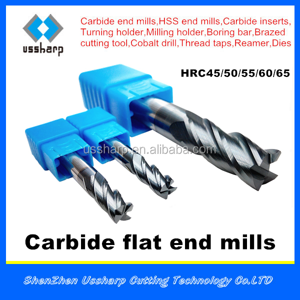 Shenzhen high quality 2 flute flat carbide end mill