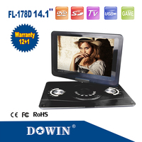 Super Long Time 3d multimedia large screen portable dvd player low price from manufacturer
